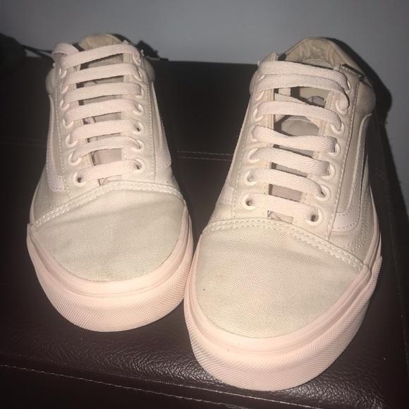 5c13063a1a52ba Vans Shoes - Vans Peach Blush Mono Canvas Old Skool